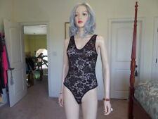 New Zara Black Lace Seethru Bodysuit Size S