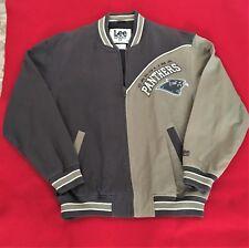 Vintage Carolina Panthers Jacket denim two tone rare Size Medium NFL NWOT 2e8e4f525