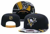 Pittsburgh Penguins NHL Hockey Embroidered Hat Snapback Adjustable Cap Adult