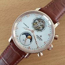 MINORVA RG Moonphase date 1-Min.Real Flying Tourbillon white