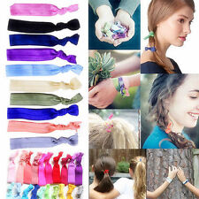 Wholesale 100Pcs Elastic Hair Ties Rubber Band Knotted Hairband Ponytail Holder