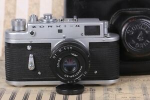Zorky-4 ZORKI-4 Rangefinder Soviet 35 mm USSR Film Camera Industar-50 Lens Black