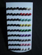 stock 36 coppie mini orecchini perla colore e nera 8 mm micro bigiotteria lotto