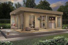 Allwood Bonaire | 225 SQF resort styled Cabin Kit Nordic Spruce Wood Mini Resort