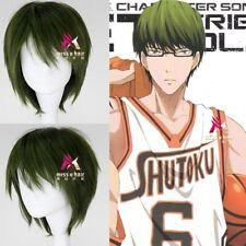 Kuroko No Basketball Midorima Shintaro Short Straight Dark Green Cosplay Wig