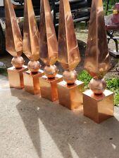 Copper finials custom made orders