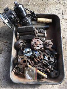 Job lot of vintage Classic Bicycle Bike parts, Lucas Bells. Carbide Lamp