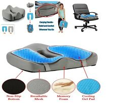 Chair Seat Cushion Cooling Gel Pad Memory Foam Office Home Car For Back Pain