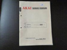 Original Service Manual Schaltplan Akai GX-F91