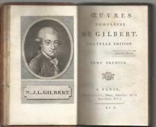 OEUVRES COMPLETES DE GILBERT_DUE TOMI IN UN VOLUME_PILLOT An X ( 1801)_EX LIBRO