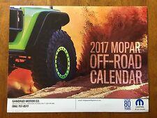 2017 Mopar Off Road Calendar Jeep Traincat Comanche 1942 Willy's MB