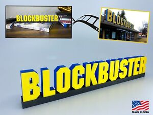 Blockbuster Video Logo Sign
