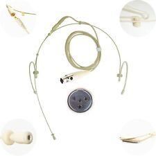 Double Dual gauche oreille droite Crochet Microphone pour 4 Pin Mini XLR JTS Shure Trantec