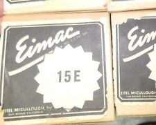 NOS NIB 15E / 15-E EIMAC TUBE JAN 15E = SIGNAL CORPS = WESTERN ELECTRIC TRIODE