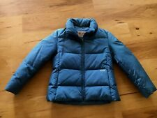 GUESS FEATHER DOWN PUFFER WINTER JACKET WOMENS WITH HOOD BLUE M