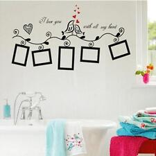 Wall Sticker Decal For Decor Home Family Picture Photo Frame Black Bird Design