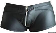 Männer Herren Pants Boxer Shorts Wetlook Schwarz Erotisch Sexy Clubwear Gr. L