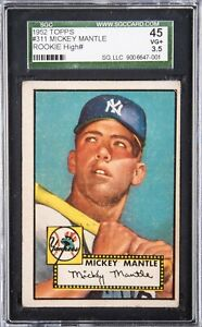 1952 TOPPS #311 MICKEY MANTLE SGC 3.5 ROOKIE