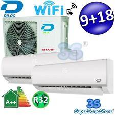 3S DUO SPLIT R32 WiFi 9000+18000 25+50 m² KLIMAANLAGE DILOC KOMPRESSOR SHARP NEW