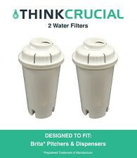 2 Brita Replacement Water Filters Fit Pitchers & Dispensers