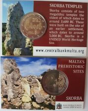 2 euro Malta 2020 Skorba coin card ufficial mint mark