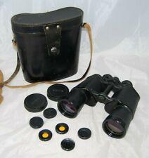Vintage Helios Binoculars BNU 7 x 50 Made in USSR Hard Leather case Eye filters