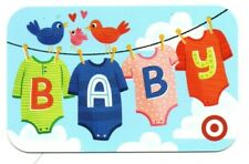 Target Baby Clothes On Clothesline Birds Hearts Gift Card No $ Value Collectible