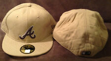 Atlanta Braves MLB NEW ERA 59FIFTY Fitted Hat Brown 100% Wool Mens Size 7 3/4