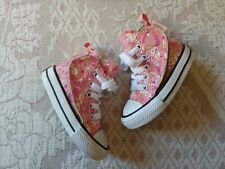 CONVERSE HIGH TOP, Baby Girl Toddler Pink design Size 4T brand new condition