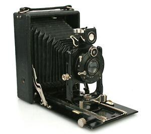 ICA (Zeiss) Maximar 207 9x12cm Folding Plate Camera, Litonar Lens, Early 1900s