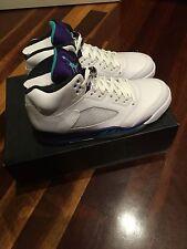Nike Air Jordan 5s White Grape Size 9 DS