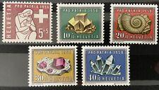 Série Pro Patria 1958 Neuf MNH** , Mi 657-661
