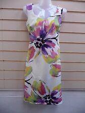 Dress Cream Size 8 Kaleidoscope Floral Print Summer
