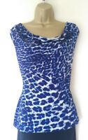 COAST TOP SZ S IN EXCELLENT CONDITION! BLUE/ANIMAL PRINT/ STRETCHY