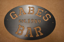 Bar Sign Metal Custom made to your name and year  - HR Steel