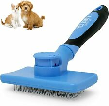 Pet Craft Supply Self Cleaning Calming Slicker Pet Grooming Brush,Removes Mats