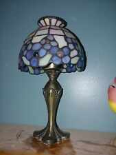 PartyLite Hydrangea Tiffany Style Stained Glass Tealight Candle Lamp Light