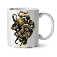 Octopus Tiger Face Animal NEW White Tea Coffee Mug 11 oz   Wellcoda