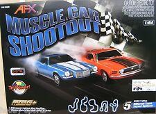 AFX Muscle Car Shootout Mustang/Camaro Slot Car Race Set w/ Lap Counter AFX21040