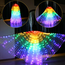 RGB LED Isis Wings Glow Belly Dance Light Up Costume Cosplay show RAINBOW Wings