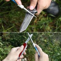 Diamond 3in1 Pocket Blade Knife Sharpener Pen-file Tools Outdoor Fish Saw Hook