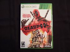 Replacement Case (NO GAME) DEADPOOL  XBOX 360