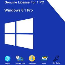 Windows 8.1 Professional 32-64bit For 1 PC Genuine License