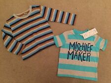 F&F Striped T-Shirts & Tops (0-24 Months) for Boys