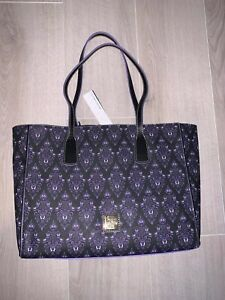 Disney Dooney & Bourke Haunted Mansion Purple Wallpaper Tote 2020 New SOLD OUT