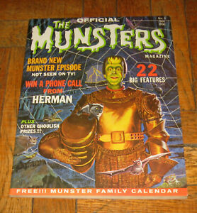 THE OFFICIAL  MUNSTERS # 1  1965  TWIN HITS PUBL.