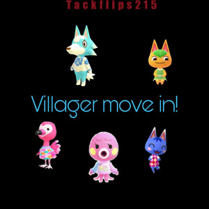 Animal Corssing Horizons-ANY VILLAGER MOVE IN SERVICE+Treasure Island visit!