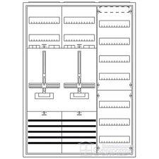 ABB Striebel&John Zählerschrank 2x Zähler 3.HZ,(1100mm Höhe- neue VDE) KS222