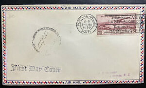 1930 Port Au Prince Haiti First Day Airmail Cover FDC To East Orange NJ USA