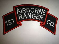 Korea War (1950-53) Us Army 1st Ranger Infantry Company (Airborne) Scroll Patch